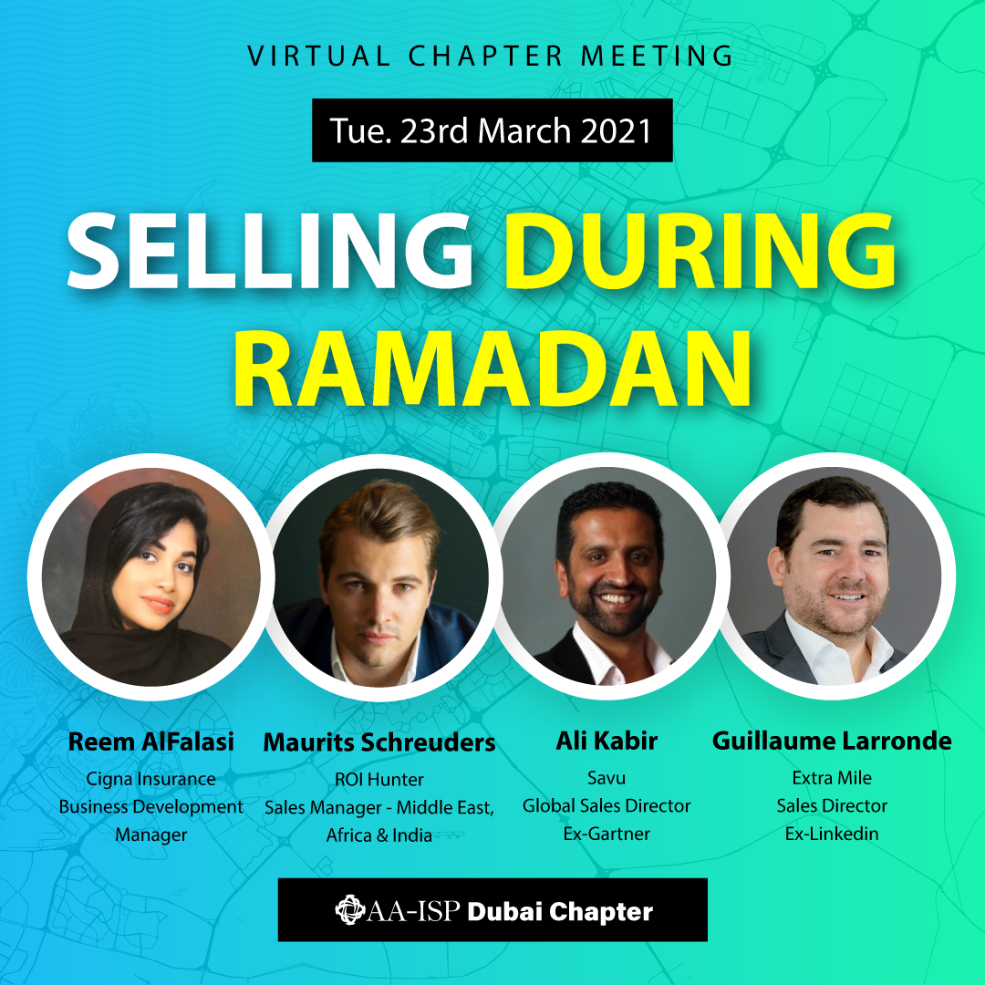 """Banner about the """"selling during ramadan"""" virtual panel"""